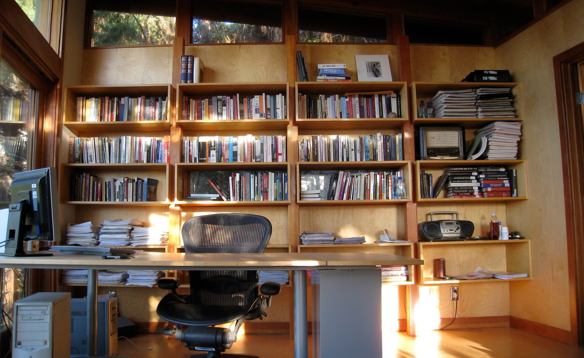 A writer's office.
