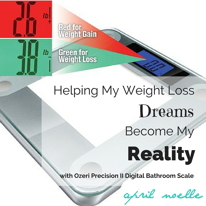 Helping My Weight Loss Dreams Become Reality with Ozeri Precision 2 Digital Bathroom Scale Review}