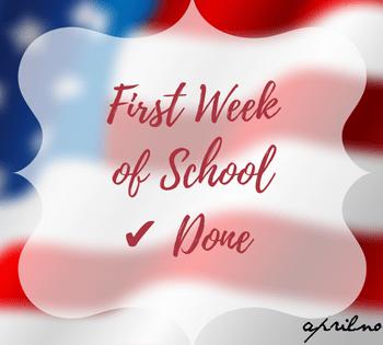 First Week of School is Done   AprilNoelle.com
