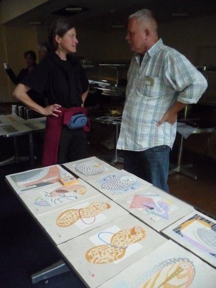 Karla asks about Henrik's prints