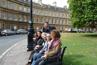 We visited the famous Royal Circus of townhouses, then the Royal Crescent.