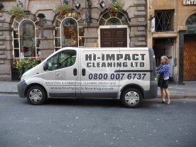 Nel considers a job with Hi-Impact cleaning for the IMPACT conference.