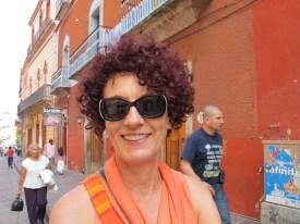 Christiane in glamorous orange