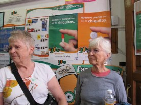 Lorraine and Joyce in the pharmacy