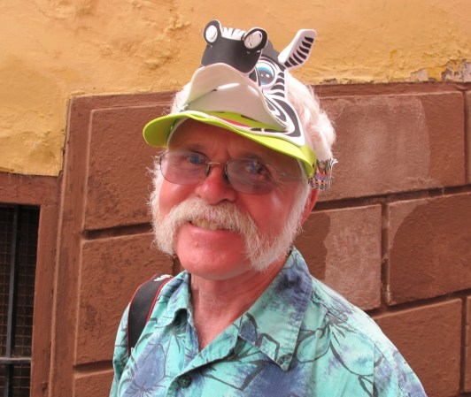 Michael with zebra hat