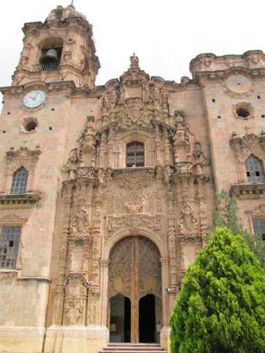 this Churrigueresque church was preserved by neglect