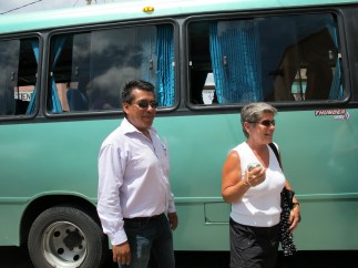 our bus and guide