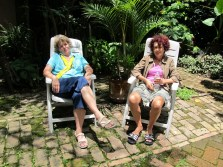 Ky and Christiane resting in the garden