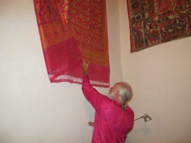 a hand woven wedding sari