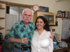 Mike and Agelica in the kitchen at Alma del Sol
