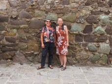 Debra and April in front of Pyramidal Grafica