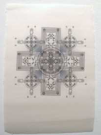 Yantra, created in 2010, printed on Gozen washi