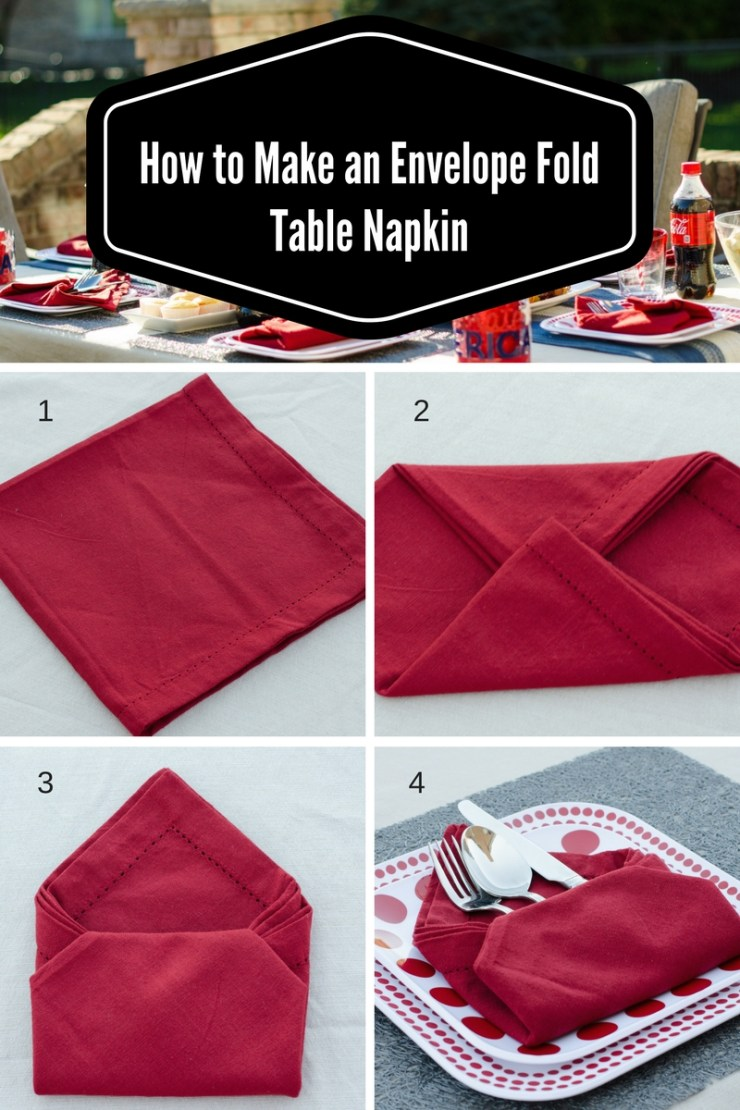 #shop, #icecoldsummermoments , target, coca-cola, share a coke, collective bias, how to make an envelope fold table napkin