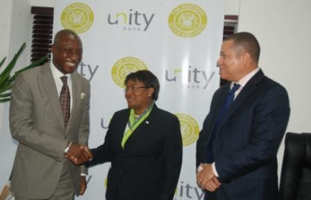 PHOTO NEWS: NSE Management Visits Unity Bank