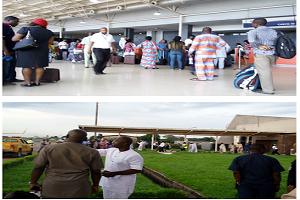 Angry Arik Air Passengers Protest At Benin Airport