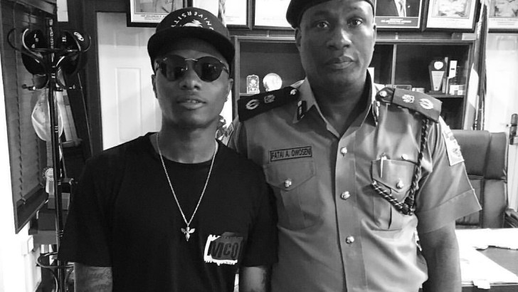 Linda Ikeji: Wizkid 'Visits' Lagos Police Commissioner (Photo)