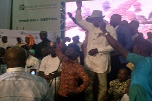 PHOTOS: Youths Disrupt FG Town Hall Meeting In Uyo