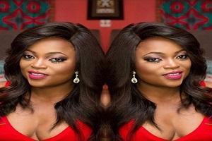 Funke Akindele Puts B00bs On Display