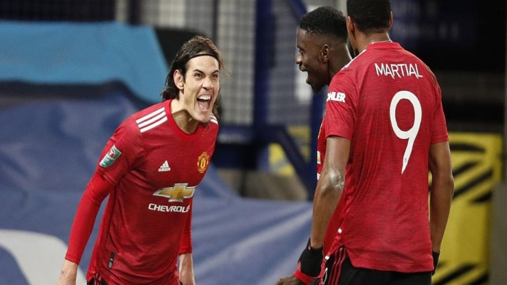 Carabao Cup Semi-Final Draw: Cavani's Strike Set Up Manchester Derby