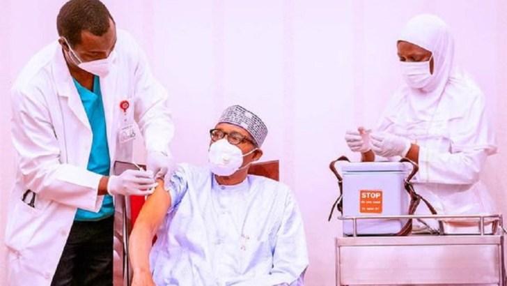 Buhari, Osinbajo Receive COVID-19 Vaccine Jabs On Live TV