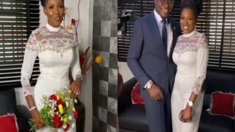 Actress Biola Adebayo Ties Knot With Lover
