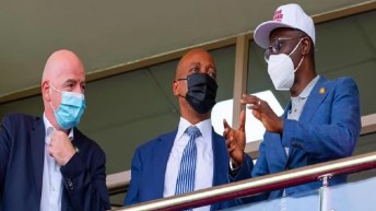 FIFA, CAF Presidents Grace Aisha Buhari Cup Kick-Off In Lagos
