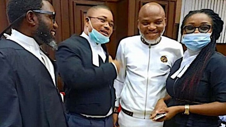 Nnamdi Kanu's Application Challenging Competence of FG's Charge, To Be heard on 10th November