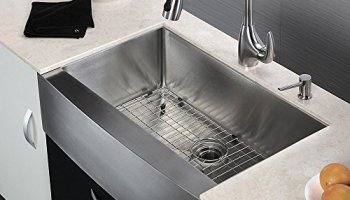 10 Inch Deep Kitchen Sinks Lordear commercial 33 inch 16 gauge 10 inch deep drop in stainless kes 33 inch farmhouse sink farm sink for kitchen apron front kitchen sink 16 guage sus workwithnaturefo