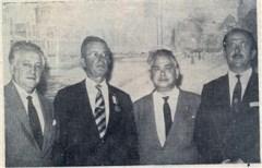 Após o ato: pose de João Chiarini, Domingos Laurito, Humberto D'Abronzo e Luiz Morrone.