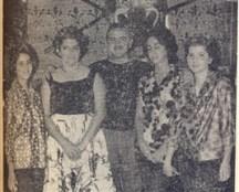 Marcelo N. de Lima e senhora. Suas filhas vera Helena e Maria Angela e a jovem Beatriz Algodoal
