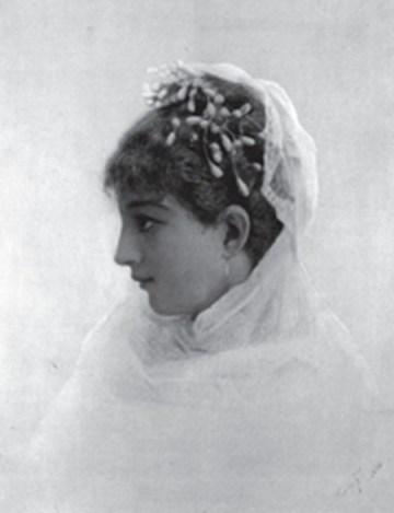 A noiva, óleo sobre tela,coleção particular ,reprodução do livro: Almeida Junior, vida e obra