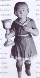 Imagem de anjo, sem asas, com cálice - estava no altar da Capela do Senhor do Horto em Piracicaba - atualmente seu paradeiro é desconhecido