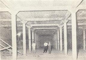 Outra obra monumental era a caixa d'água na praça fronteira ao cemitério.