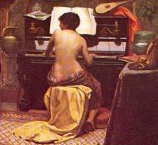 Descanso do modelo, detalhe. 1882. Museu Nacional de Belas Artes, Rio