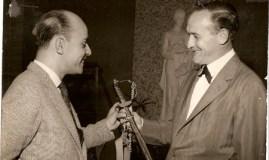 Marco Aurélio(Mauro Vianna) e o empresário Arnaldo Ricciardi, marido de Nida Dedini Ricciardi