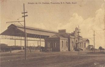 Estação Paulista, nos anos 1920, recém inaugurada