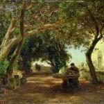 Oswald_Achenbach_-_Italienischer_Klostergarten
