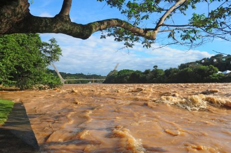Rio Piracicaba transbordando - Foto Del Rodrigues
