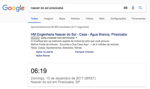 google-nascer-sol