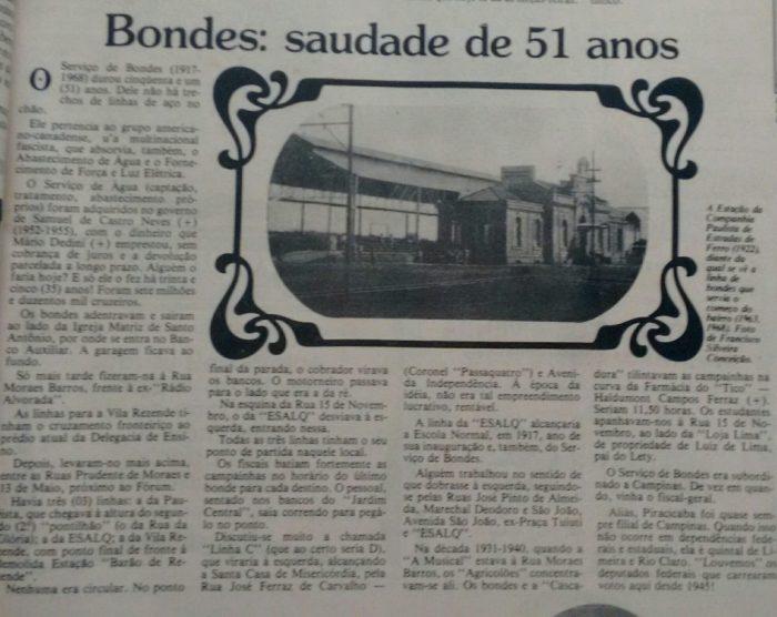 Bondes-Piracicaba
