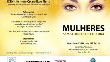 Encontro reúne mulheres de Piracicaba para discutir a influência da mulher na cultura