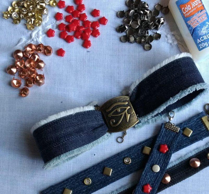 Mosaico de Ideias / Pirilampo realiza a oficina Faça sua pulseira jeans