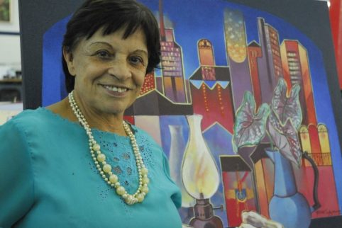 Yara Tupynambá, artista plástica mineira. (foto: Sylvio Coutinho)