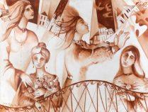 """""""Mulheres de Minas"""", obra de Yara Tupynambá - acervo de Kaili Oliveira. (foto: Quim Drummond)"""