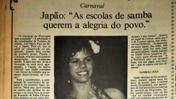 """Em 1988: """"as escolas de samba querem a alegria do povo"""""""