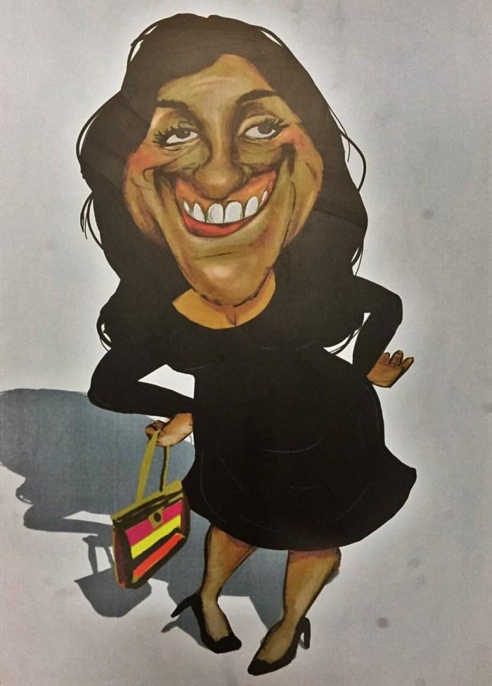 Caricatura de Regina Casé compõe paralela