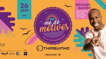 Thiaguinho faz show em Piracicaba