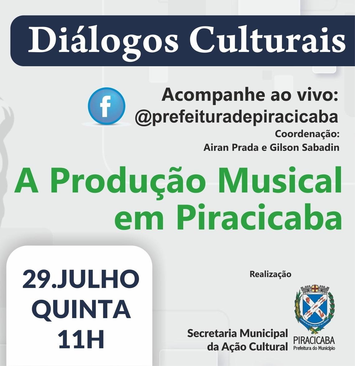 Live discute produção musical em Piracicaba