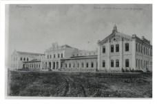 """Escola Agrícola Prática """"Luiz de Queiroz"""" - nas primeiras décadas do século XX, ainda em obras. (foto: acervo Cecílio Elias Netto)"""