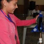 Estudantes lançam foguetes de garrafa pet em jornada